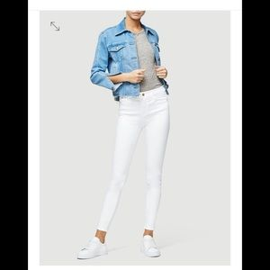 Frame Le High Skinny white jeans